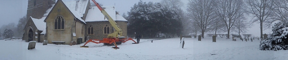 Church in Snow Teupen - []